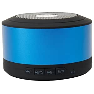 Emartbuy® Blue Compact Portable Super Bass Wireless Bluetooth Speaker With Handsfree Suitable for Prestigio MultiPhone 5450 Duo