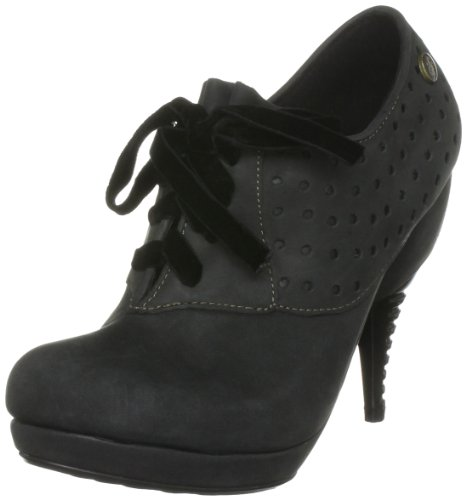 Feud London Women's Bustle Black Booties Heel 203290101 4 UK