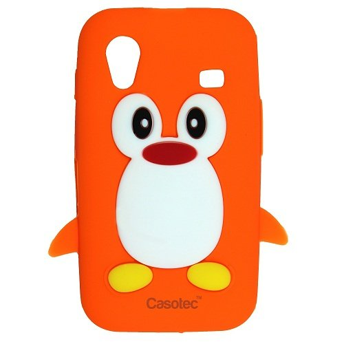 Casotec Penguin Silicone Jelly Back Case Cover for Samsung Galaxy Ace S5830 - Orange  available at amazon for Rs.125