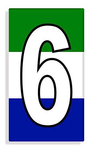 Sierra Leonean - Sierra Leone Flag Number 6 Sticker Self Adhesive / Aufkleber Für Wheelie Bin / Haustür / Mülltonne / Mülleimer - Anzahl wählen