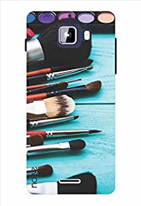 Noise Makeup Brushes Printed Cover for Micromax Canvas Nitro A310
