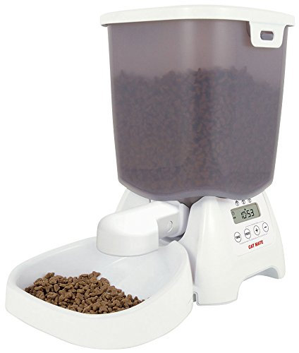 The Cat Mate C3000 automatic feeder for cats is well worth buying.