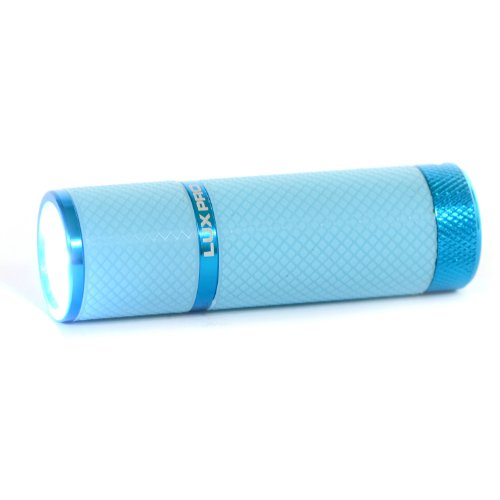 Lux-Pro Lp395 Gels Glow-In-The-Dark 9 Led Flashlight - Light Blue