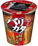 明星 バリカタ 豚骨キムチ味 縦型カップ 88g 1ケース(12食入)