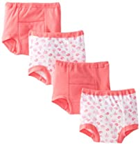 Gerber Baby-Girls Infant 4 Pack Training Pants, Pink, 18 Months