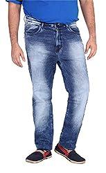 Xmex Men's Denim Jeans (Jd-1020L.Blue-42, Light Blue, 42)