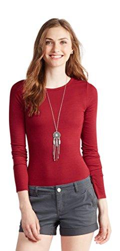 aeropostale-womens-prince-fox-solid-layering-tee-shirt-m-red-robin
