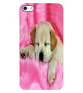ColourCraft Cute Puppy Design Back Case Cover for APPLE IPHONE 4S