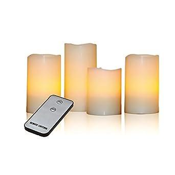 x4 life echtwachskerzen 4er set led creme db981. Black Bedroom Furniture Sets. Home Design Ideas