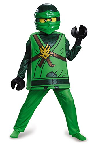Disguise Lloyd Deluxe Ninjago LEGO Costume, Medium/7-8