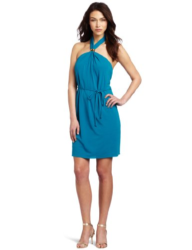 Trina Turk Women's Silt Matte Jersey Dress, Azure, 2