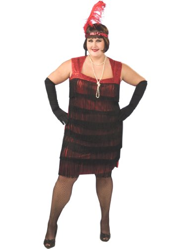 Flapper Costume Plus Size 1920's Dress Dancer Womens Theatrical Costume