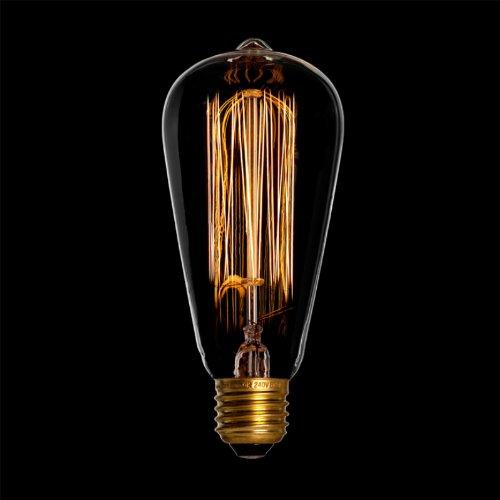 DANLAMP Edison rustika Schmucklampe Glühbirne 40W / E27 / klar /antik
