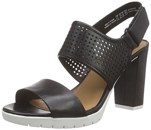 Clarks - Pastina Malory, Tacco da donna, nero (black leather), 39