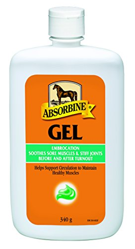 Absorbine-Gel-Embrocation-340g-Gel-Liniment-Horse-Dog-Pet-Animal