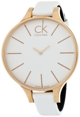Calvin Klein Ladies Watch XS Analogue Leather Glow K2B23601 PVD Tarnish