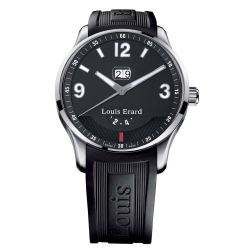 Louis Erard Men's 82224AA02.BDE09 1931 Automatic Black Rubber Power Reserve Date Watch