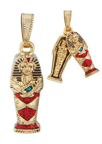 Egyptian King Tut Coffin Pendant Jewelry Accessory
