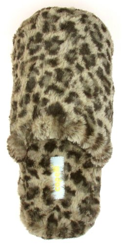 Cheap Capelli New York Leopard Slipper Scuff With Leopard Sock Ladies Indoor Slipper (B005MJYX0C)