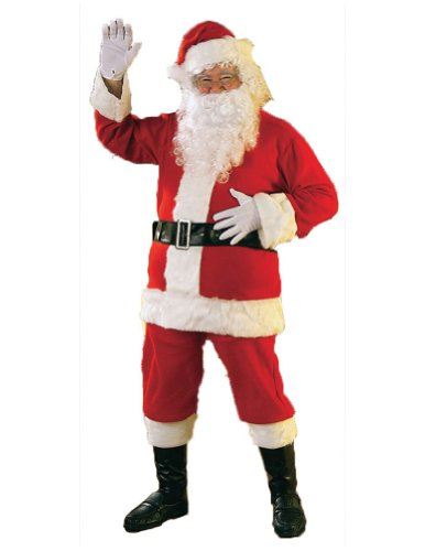 Santa Suit Flannel Christmas Costume - Most Adults