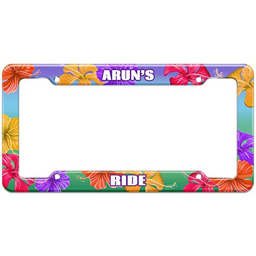 tropical-hibiscus-license-plate-frame-ride-names-male-ar-ay-arun