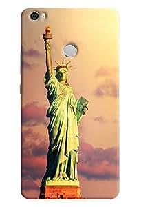 Omnam Statue Of Liberty Designer Back Cover Case for Xiaomi Mi Max