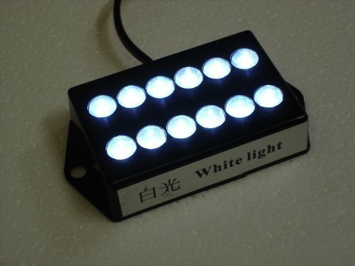 Bright 12 Led White Color Cabin Light Chart Map Light - Waterproof Housing, 12 Volt Cabin Light For Auto, Rv, Truck, Aircraft