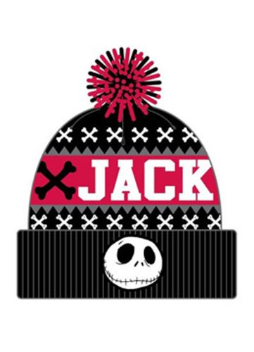 Nightmare Before Christmas Jack Fairisle Pom Cuff Beanie