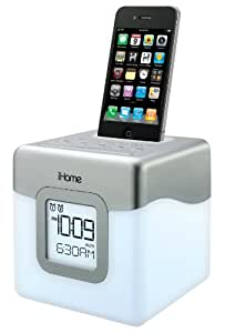 iHome iP18W Color-Changing 30-Pin iPod/iPhone Alarm Clock Speaker Dock (Not Compatible w/ iPhone 5) (Discontinued by Manufacturer)