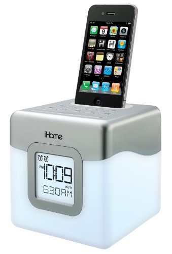 Ihome Ip18W Color-Changing 30-Pin Ipod/Iphone Alarm Clock Speaker Dock (Not Compatible W/ Iphone 5)