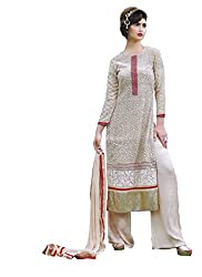 Namrah Collection Women's Georgette Embroidered (4448, Beige)