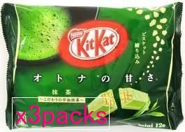 Japanese Kit Kat - Maccha Green Tea Bag 4.91 Oz (Pack of 3)