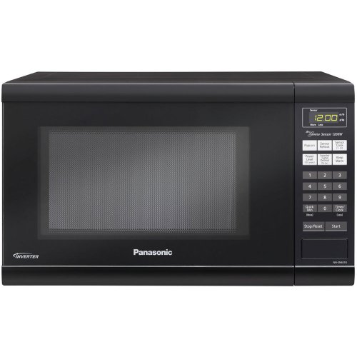 Black 1.2 Cu. Ft Countertop Microwave Oven with Inverter Technology ...