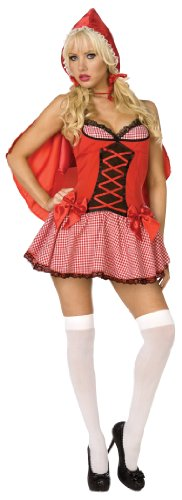 Sexy Red Riding Hood 2pc Womens Costume Red
