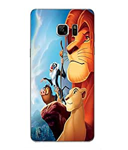 Make My Print Jungle Book Printed Green Hard Back Cover For Samsung Galaxy Note 7