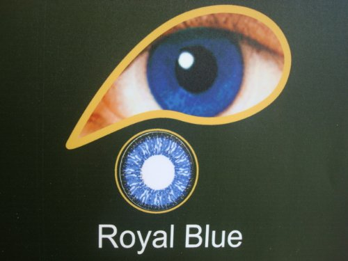 1 Month Wear Contact Lenses With Free Multi Purpose Solution & Free Lense Case - Royal Blue