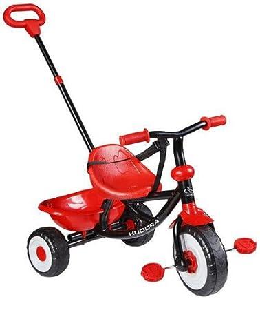 Hudora - 10284 - Vélo et Véhicule pour Enfant - Tricycle SX 9 - Roues en Plastique - Rouge/Noir