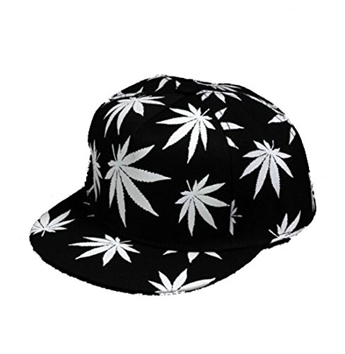 Hip-Hop-Maple-Leaf-Marijuana-Weed-Adjustable-Snapback-Cap-Hat-Baseball-Caps