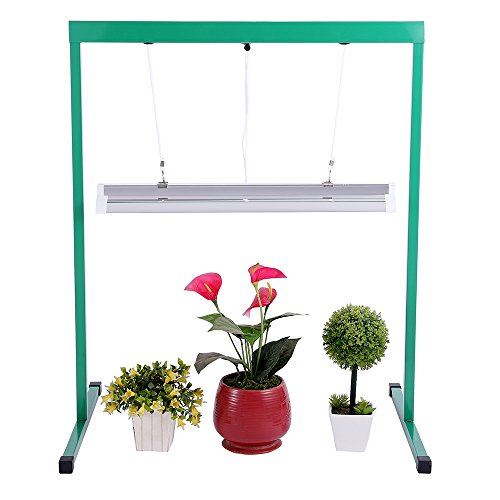 how to make a grow light plant stand