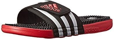 adidas Performance Men's Adissage Slide Sandal, Core Black/Light Scarlet/White, 7 M US