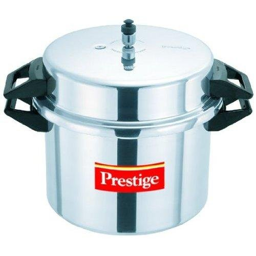 Prestige aluminum pressure cooker, 20 liters.