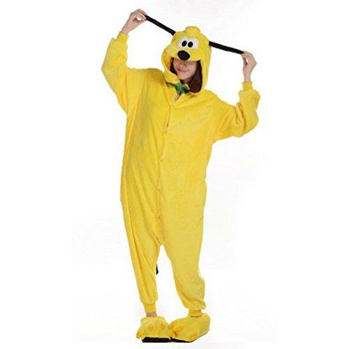 Animal Yellow Pluto Dog Pajamas Sleepsuit Cosplay Pyjamas Unisex (Size S) front-835859