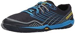 Merrell Men\'s Trail Glove 3 Trail Running Shoe, Navy/Racer Blue, 7 M US