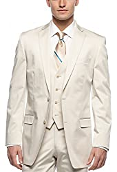 Calvin Klein CK Cream Cotton Sportcoat 46 Long 46L Blazer - Suit Separate