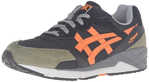 ASICS Men's Gel-Lique Fashion Sneaker, Black/Orange, 11 M US