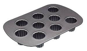 Kitchencraft Masterclass Non Stick 9 Hole Canelle Cake Pan KCMCHB89