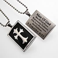 Black Pendant Cross Shield Pendant, Man Of God