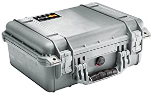 Pelican 1450 Case with Foam for Camera (Silver)
