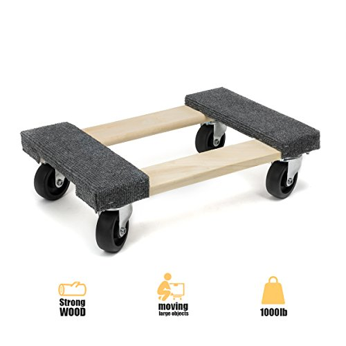 1000-lb Hardwood Dolly w/ Carpet End