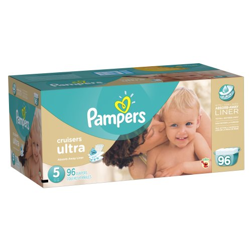 Pampers Cruisers Ultra Diapers Size 5 Economy Pack 96 Count